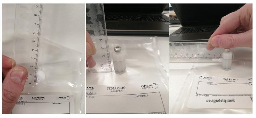 tedlar bag polypropyleen fitting